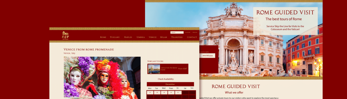 rome guided visit tour page
