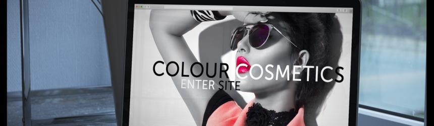 colour costmetics website mockup