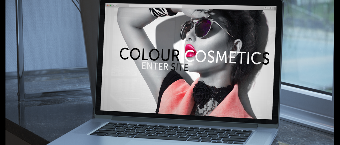 colour costmetics website mockup