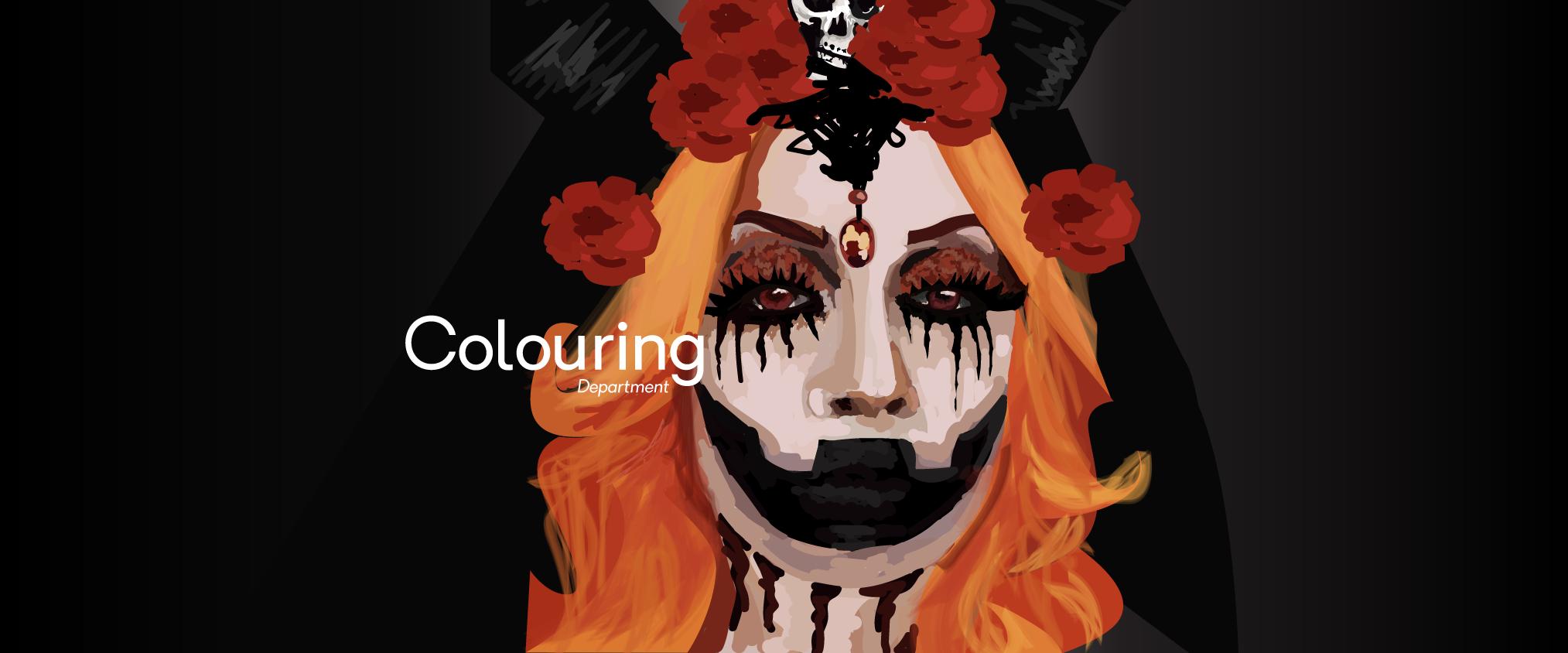 halloween female gothic illustration